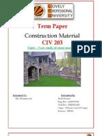 Case study of stone masonry-RH5001A53- Atish Kumar-CIV 203