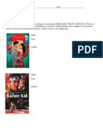 movie poster worksheet