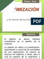Clase 1 y 2, Investigación de Operaciones