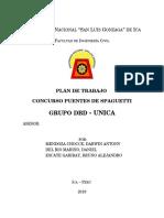 Plan de Trabajo Puente Unica