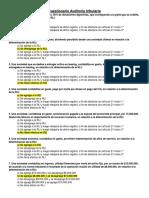 Cuestionario Auditoría tributaria