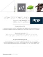 CND Spa Manicure Services Menu Editable