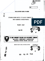 Standard Burn Rates of Black Powder to 100 atmospheres.