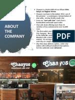 Consumer Behaviour Presentation on chaayos