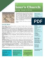 st saviours newsletter -8 sept 2019 - ot 23  trinity 12