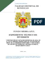 Memoria Descriptiva Rondocan Acomayo