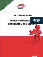 Actividad Nº 01 Análisis Dimensional - Conversion de Unidades