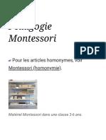 Pédagogie Montessori — Wikipédia
