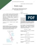Preinforme e Informe Pendulo Simple