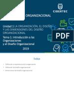 5.- PPT Unidad 01 Tema 01 2019 02 Diseño Organizacional(2260)