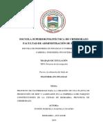 Proyecto de Factibilidad Para La Creación de Una Planta procesadora