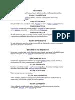 tipos de procesamientos de textos