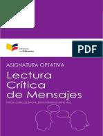 Asignatura Optativa Lectura Critica de Mensajes LL 3BGU