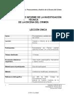 Csi 5 Gi Carpeta e Informe de La Investigacion Tecnica de La Escena