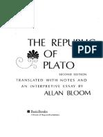 Plato, Allan Bloom - The Republic of Plato_ Second Edition (1991, Basic Books)