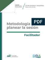Metodología para planear la sesión
