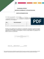 Carta de Presentación Patenta