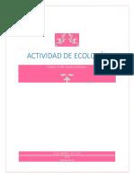actividad ecologia