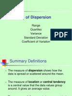 UNIT III -Measures of Dispersion