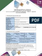 Guía de actividades y rúbrica de evaluación – Tarea  2 – Expresar mi propia gestualidad