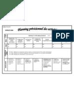 Planning prévisionnel des activités 2