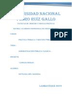 Ensayo de Administración Pública Clásica.