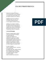 Poesías de La Independencia de México