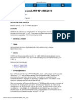 Rg 3956-16 SICOSS Plazo Especial Presentación Ddjj