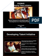 ESOMAR Developing Talent Mba Project Summary Sindhu