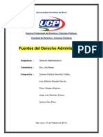 Fuentes Del Derecho Administrativo Terminado