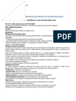 GUIA PARA LA ELABORACIÓN DE PROYECTOS DE INVESTIGACIÓN