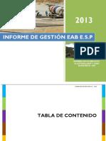 Informe Gestion Eab 2013