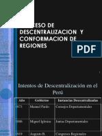 Proceso de Descentralizacion Regional