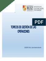 TOPICOS DE GESTION DE OPERACIONES