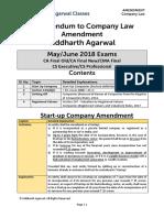 Corrigendum to Company Law Amendments