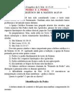 12 Pedro e a Pedra - Mat. 16.15-19