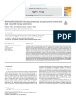 Benefits of Transmission Switching and Energy Storage in Power 2018 Applied