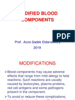2019 Modified Blood Components