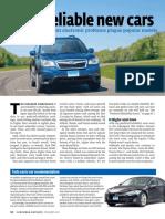 Consumer Report Auto 2013