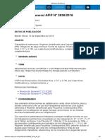 Rg 3936-16 Aportes Y Contribuciones Previsionales -Pago de Tributos-Monotributo-Trabajador Autonomo