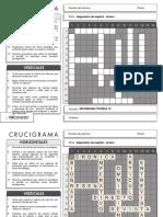 Crucigrama - Exa Diagnostica de Español Tercero