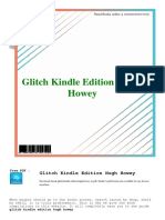 Glitch Kindle Edition Hugh Howey