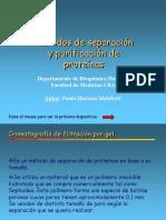 Metodos de separacion y purificacion de proteinas