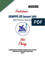Pembahasan UP Ppg MTK Januari 2019