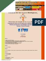 PROGRAMA DE CLASES DE LA ESCUELA DE LAS LEYES BIOLOGICAS