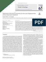 Parametros Del Proceso de Optimizacion Para El Proceso de Aglomeracion Carbón Aceite Usando Aceites Recolectados
