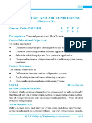 Refrideration Air Conditioning Pdf Air Conditioning Refrigeration