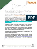Orientaciones y Formatos Para Reclamaciones ECDF III - Fecode