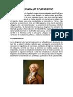 Biografía de Robespierre
