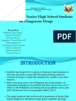 Awareness of Senior High School Students   on Dangerous Drugs
